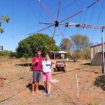 Lyn, VK4SWE on Sweers Island, Australia, has a winch to raise her hex