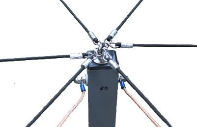 Watertight, reinforced cap anchors the radial cords that support the spreader arms.
